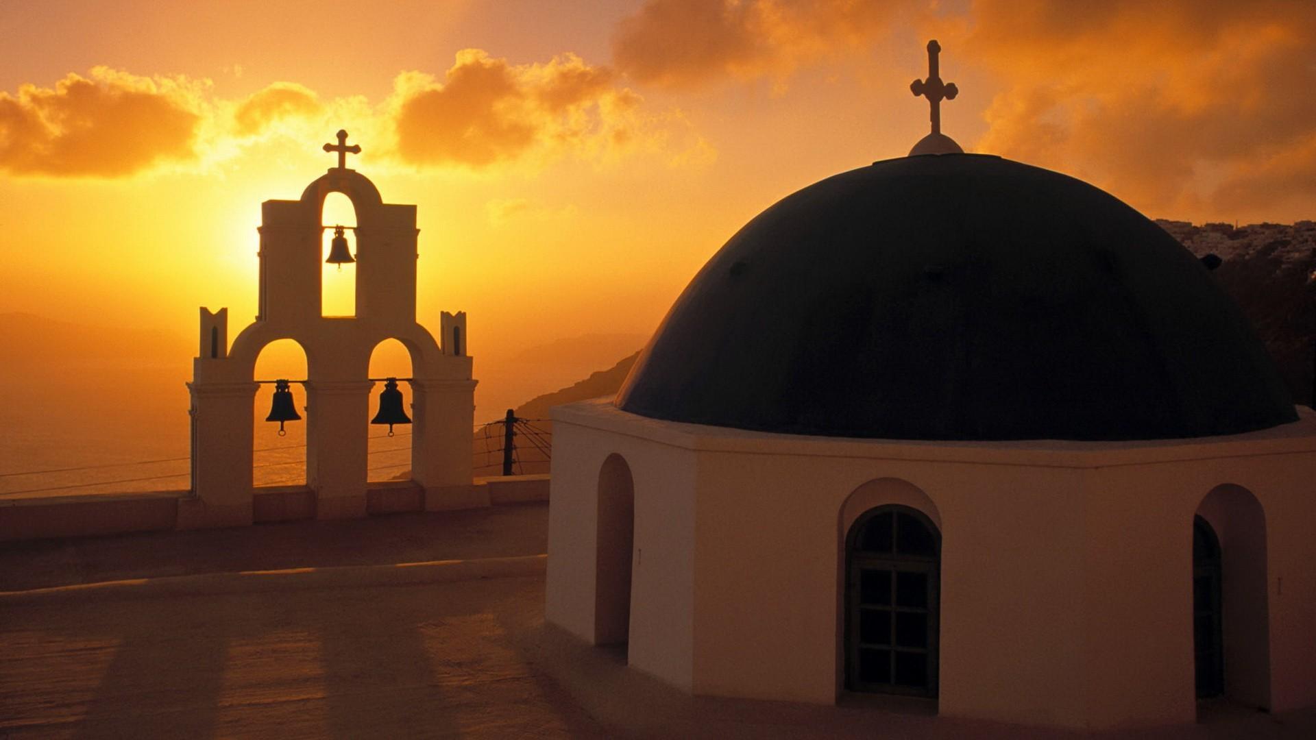 希腊爱情岛 希腊爱琴海圣托里尼岛
