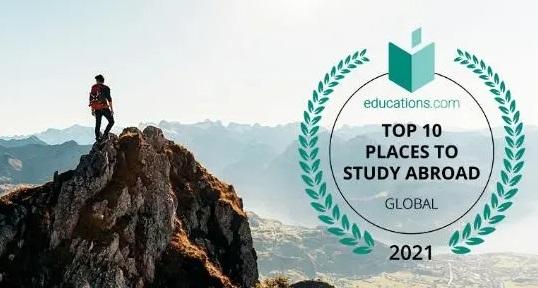 加拿大在2021年全球十大最佳留学国中蝉联第一