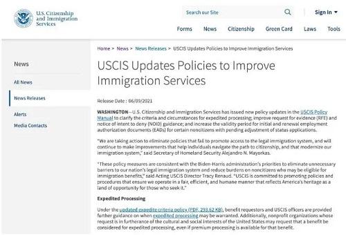 """美国移民局正努力恢复并扩大""""服务""""宗旨,提高办理效率!"""