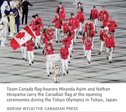 东京奥运会上,加拿大移民人群占比多少?